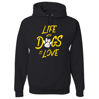 Life With Dogs Is Love Hoodie