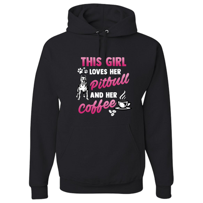 Love Pitbull & Coffee Hoodie