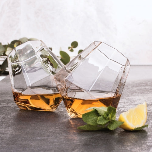 Diamond Whisky Glasses  | Set of Two