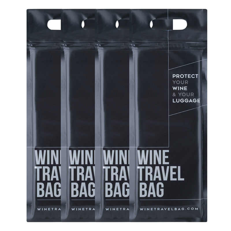 Wine Travel Bag - Matte Black  - Pack of 4