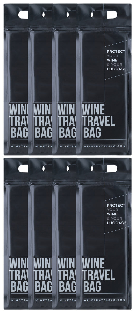 Wine Travel Bag - Matte Black  - Pack of 8