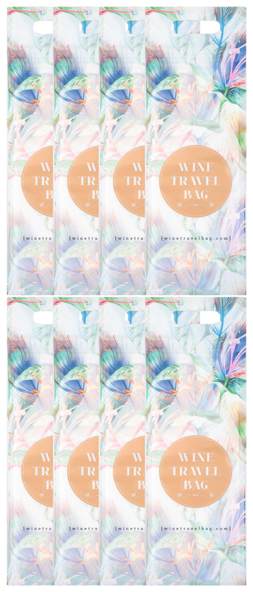 Wine Travel Bag - Floral Art Design  - Pack of 8