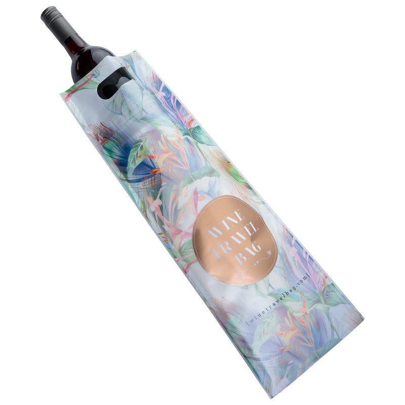 Wine Travel Bag - Floral & Marble Mix Pack  - Pack of 6
