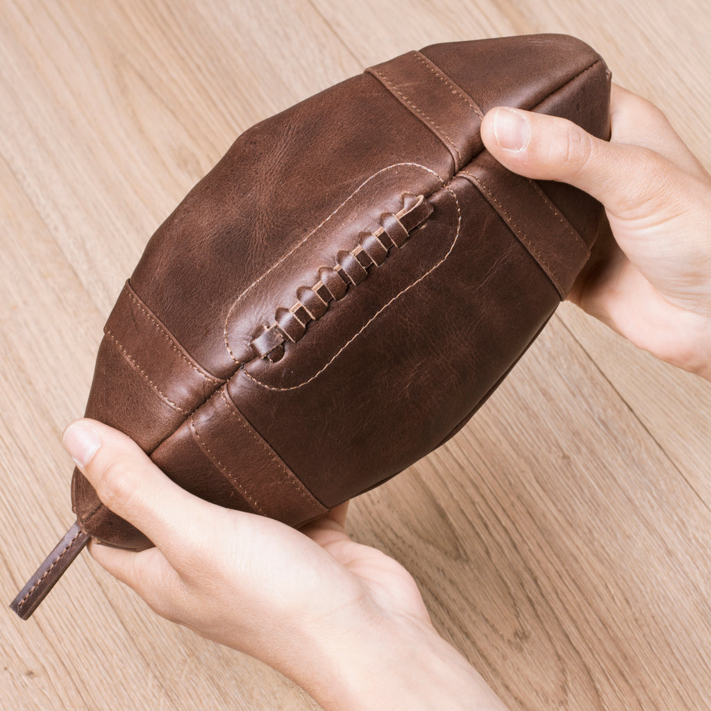 American Football Leather | Toiletry Bag