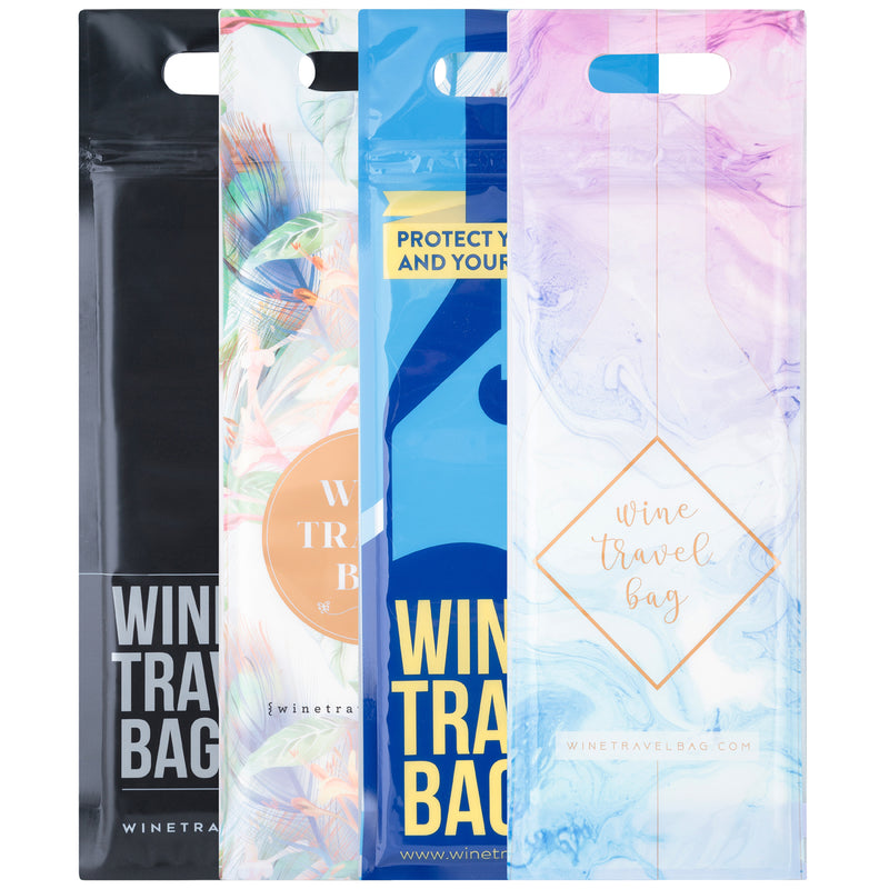 Wine Travel Bag - All Designs - Pack of 4