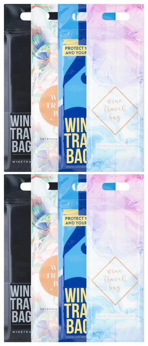 Wine Travel Bag - All Designs - Pack of 8