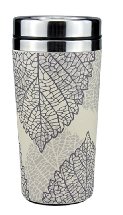 Reusable Insulated Bamboo Coffee Cups 450ml - Falling Leaves