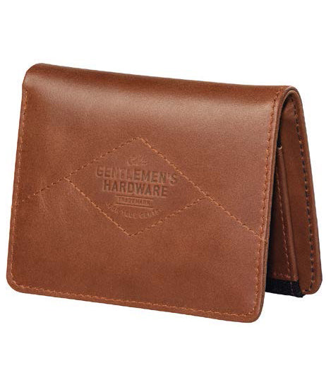 Men's Tan Leather & Bl Canvas Wallet by Gentlemen's Hardware