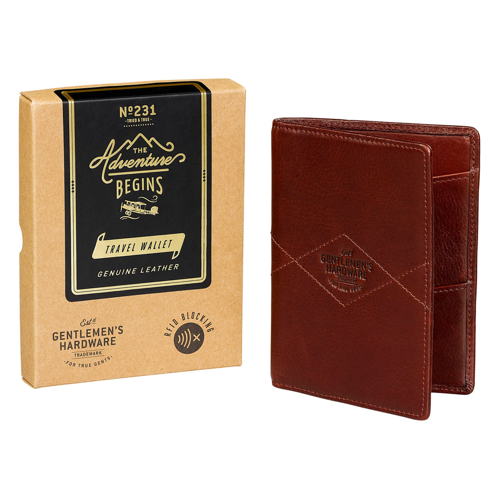 Leather Travel Wallet by Gentlemen's Hardware