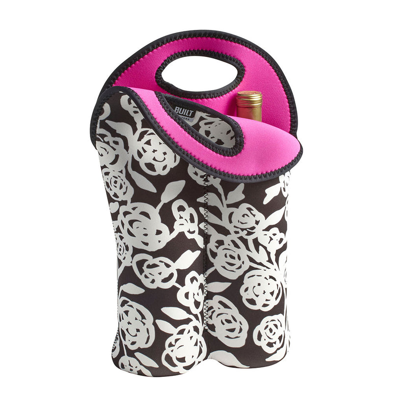 BUILT NY - Wine Bag - Double - Garden Rose