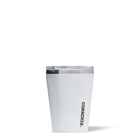 Corkcicle Reusable Insulated Coffee Cup  - Classic White 355ml Tumbler