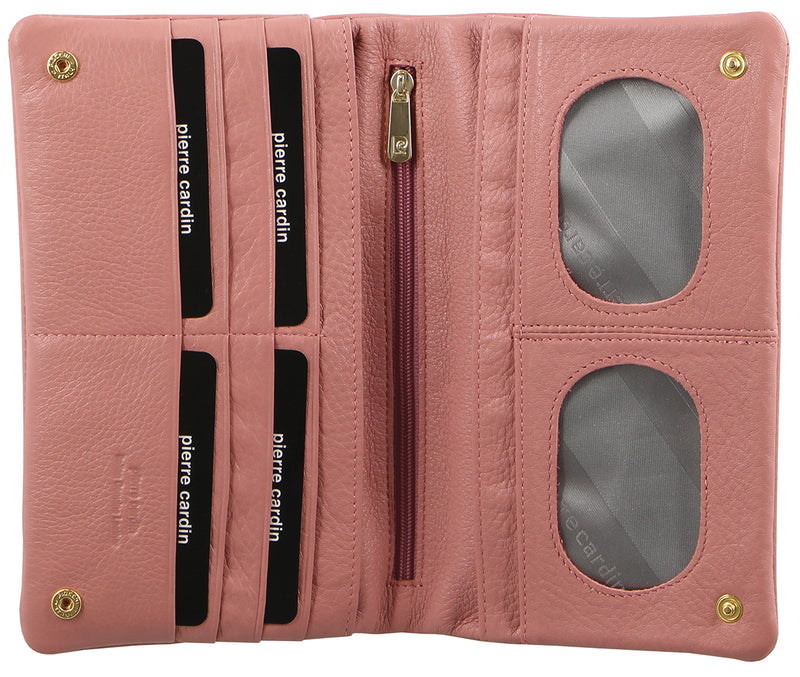 Pierre Cardin Italian Leather Ladies Wallet (PC10842) - Pink