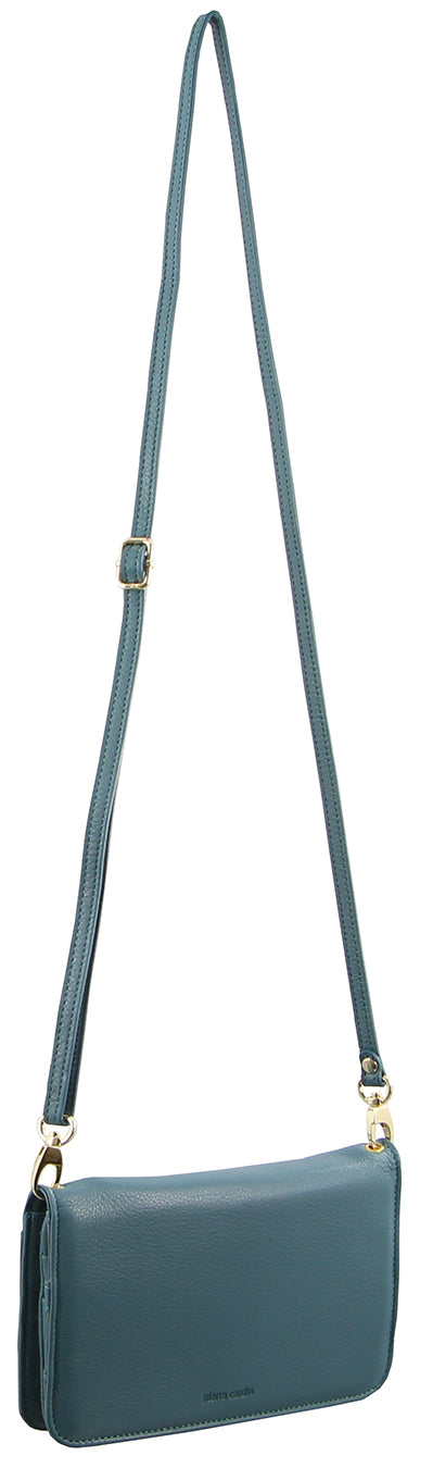 Pierre Cardin Italian Leather Wallet Bag (PC1184) Turquoise