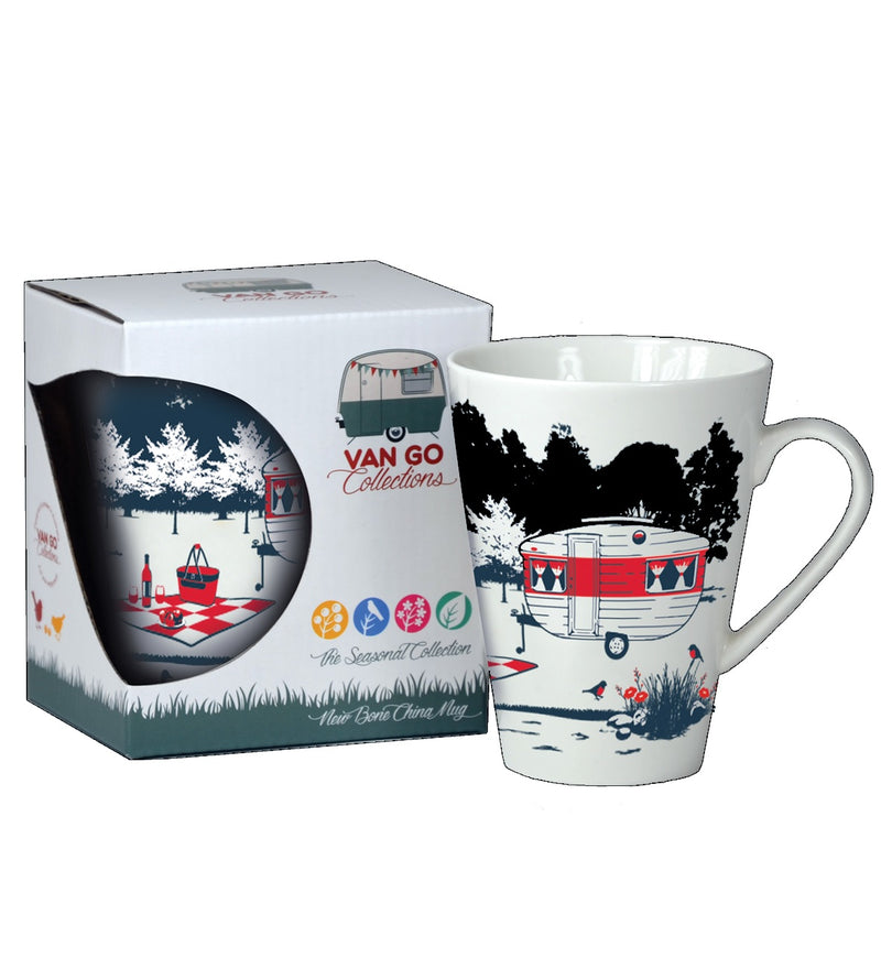 Caravan Coffee Mug -Seasonal Collection  - Spring, by Van Go Collections