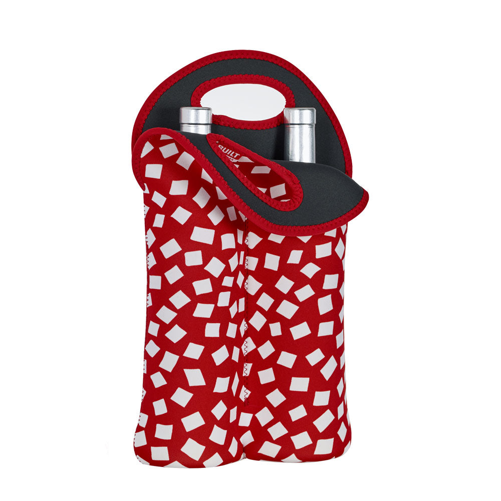 BUILT NY - Wine Bag - Double Bottle - Red Confetti