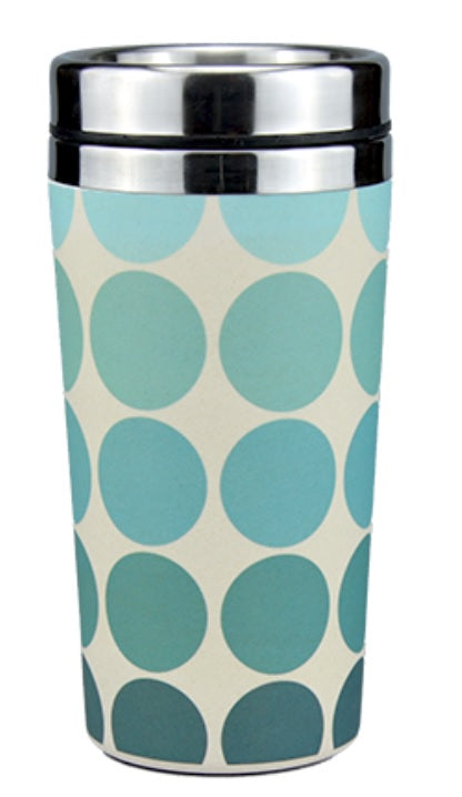 Reusable Insulated Bamboo Coffee Cups 450ml - Spots n Dots