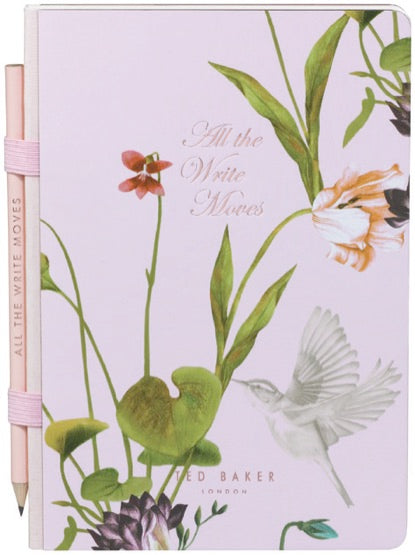 Ted Baker A5 Notebook & Pencil  - Oriental Bloom