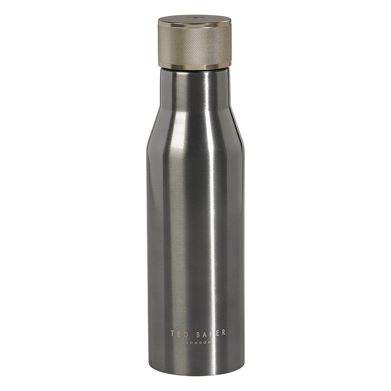 Ted Baker Double Insulated Reusable Water Bottle  - Gunmetal Grey