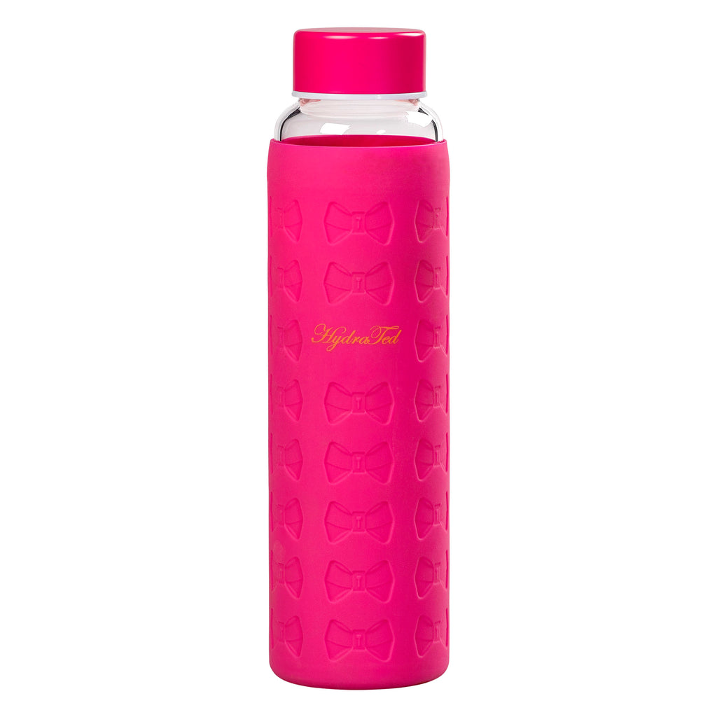 Ted Baker Hot Pink Glass Water Bottle