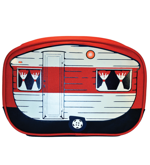 Red Retro Caravan Toiletry Bag - Van Go Collections