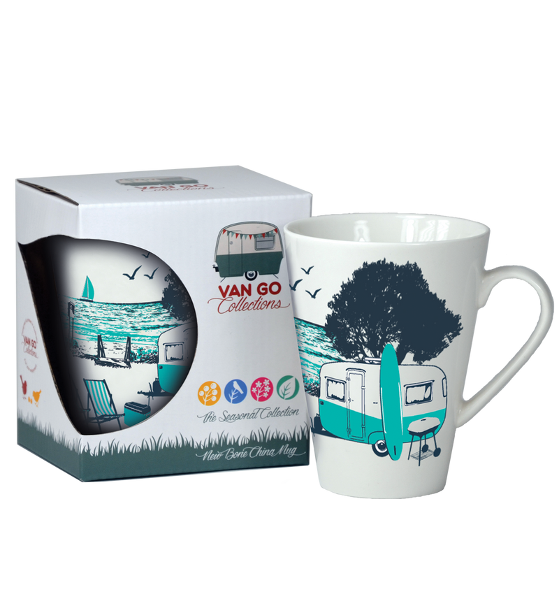 Caravan Coffee Mug -Seasonal Collection  - Summer, by Van Go Collections