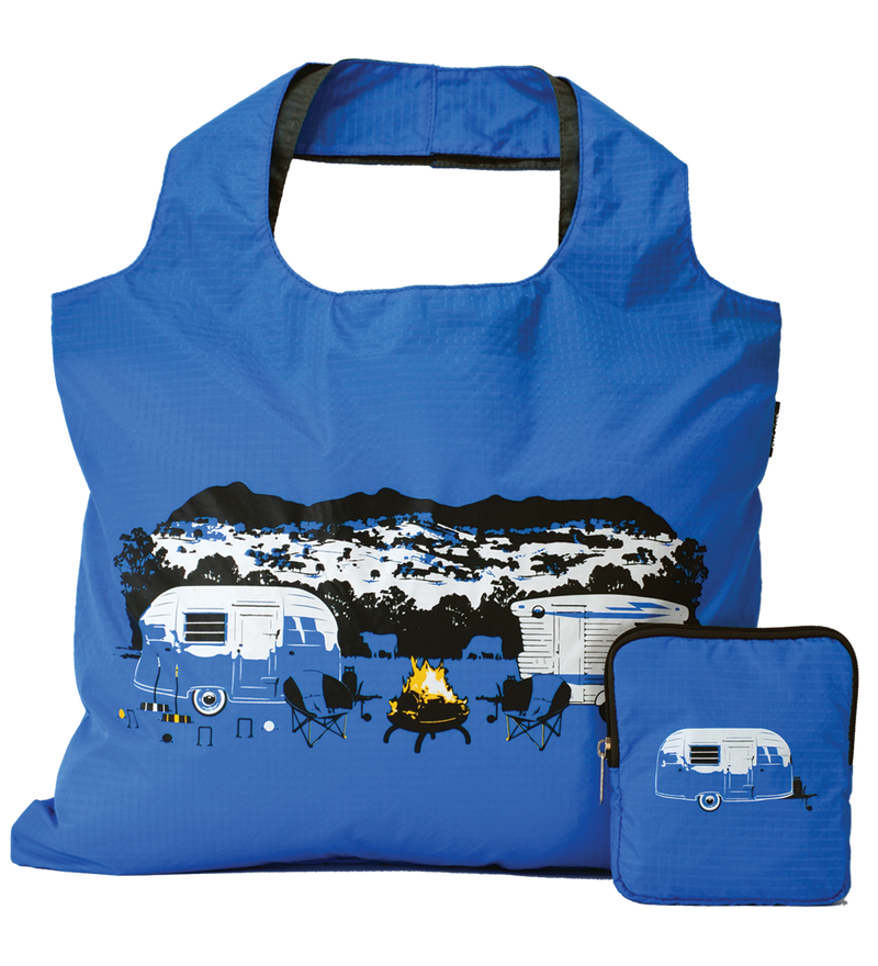 Caravan Reusable Tote Carry Bag - Blue