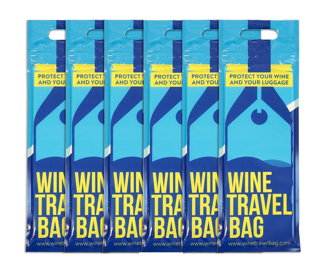 Travelling with Wine?  Wine Travel Bag (Pack of 6) - Strong wine bottle protectors for travel