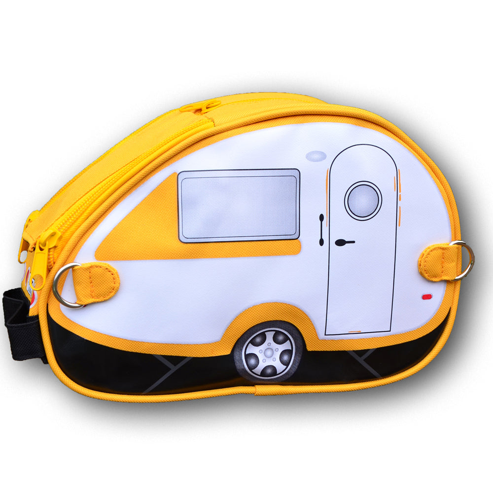 Yellow Retro Caravan Toiletry Bag - Van Go Collections