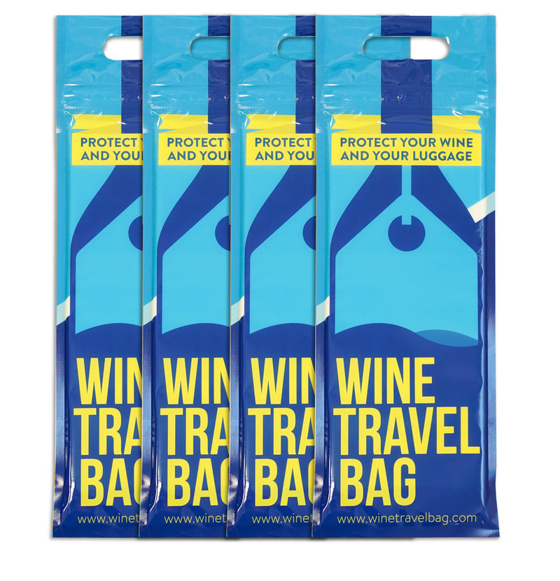 Wine Travel Bag - Blue - Pack of 4