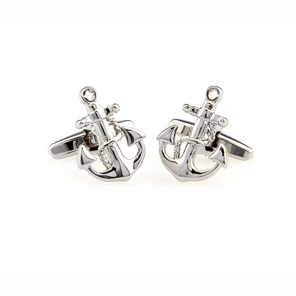 Mens Wedding Party Gift CuffLink Anchor Sailor Cufflinks