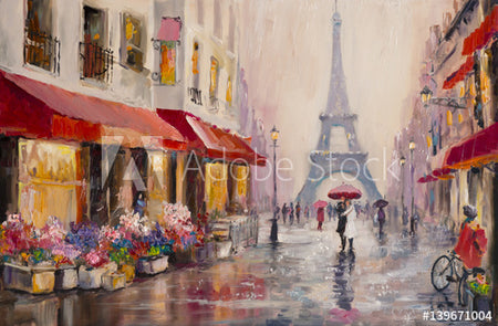 Paris oil painting