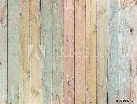 Wooden Planks Pastel Colored