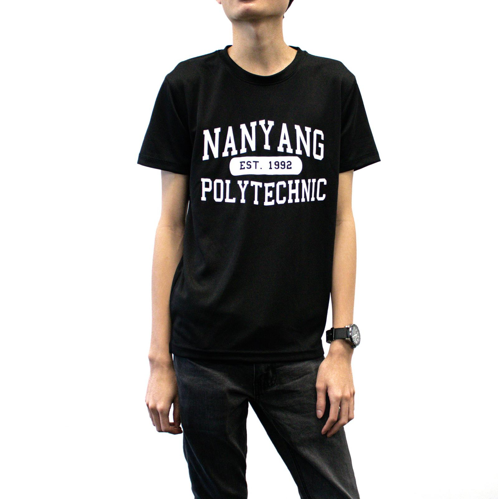 NYP DRI-FIT TEE BLACK WITH WHITE FONTS