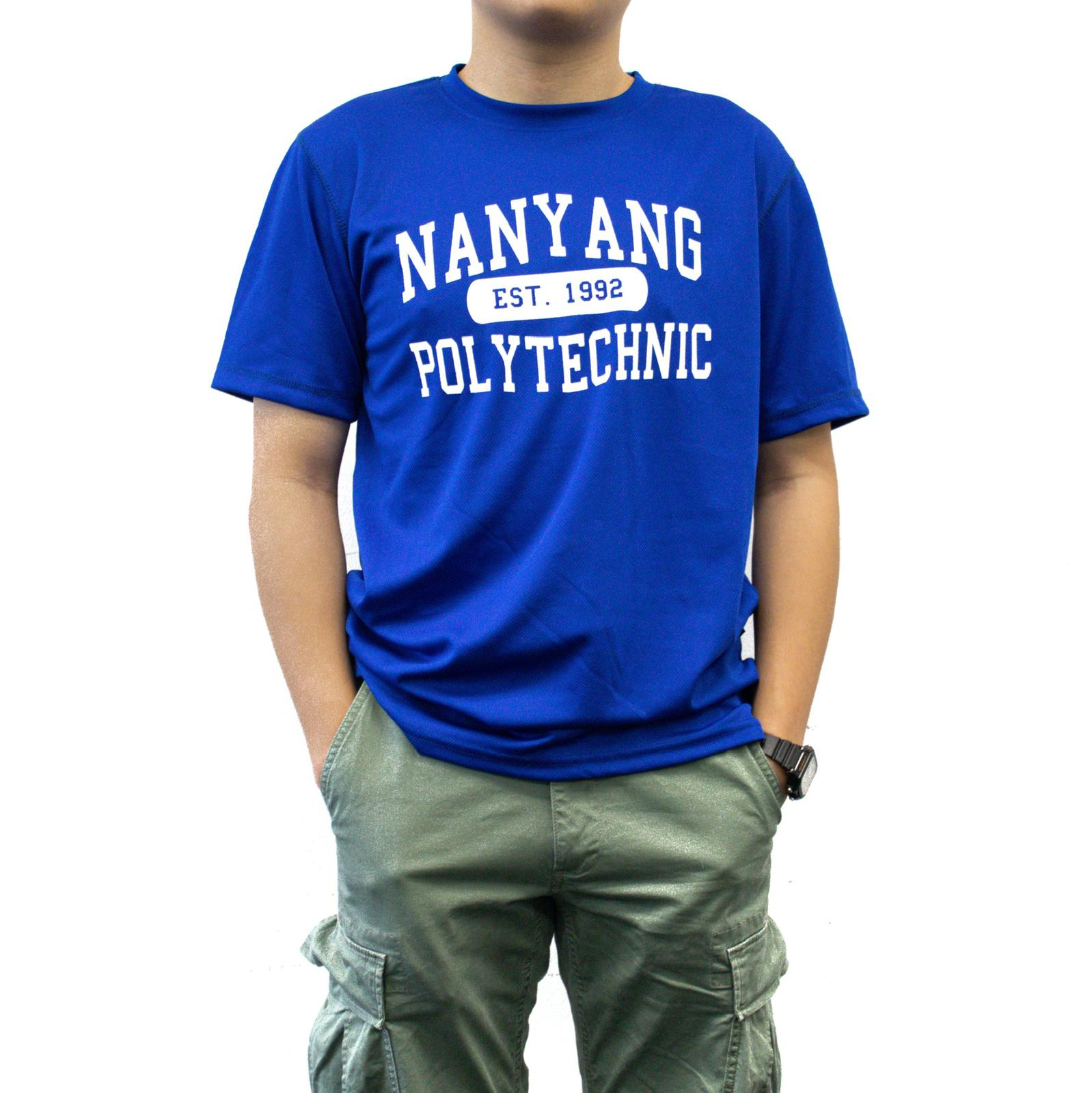 NYP DRI-FIT TEE ROYAL BLUE WITH WHITE FONTS