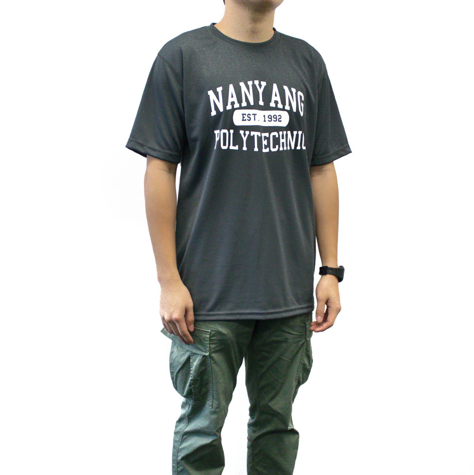 NYP DRI-FIT TEE GREY WITH WHITE FONTS