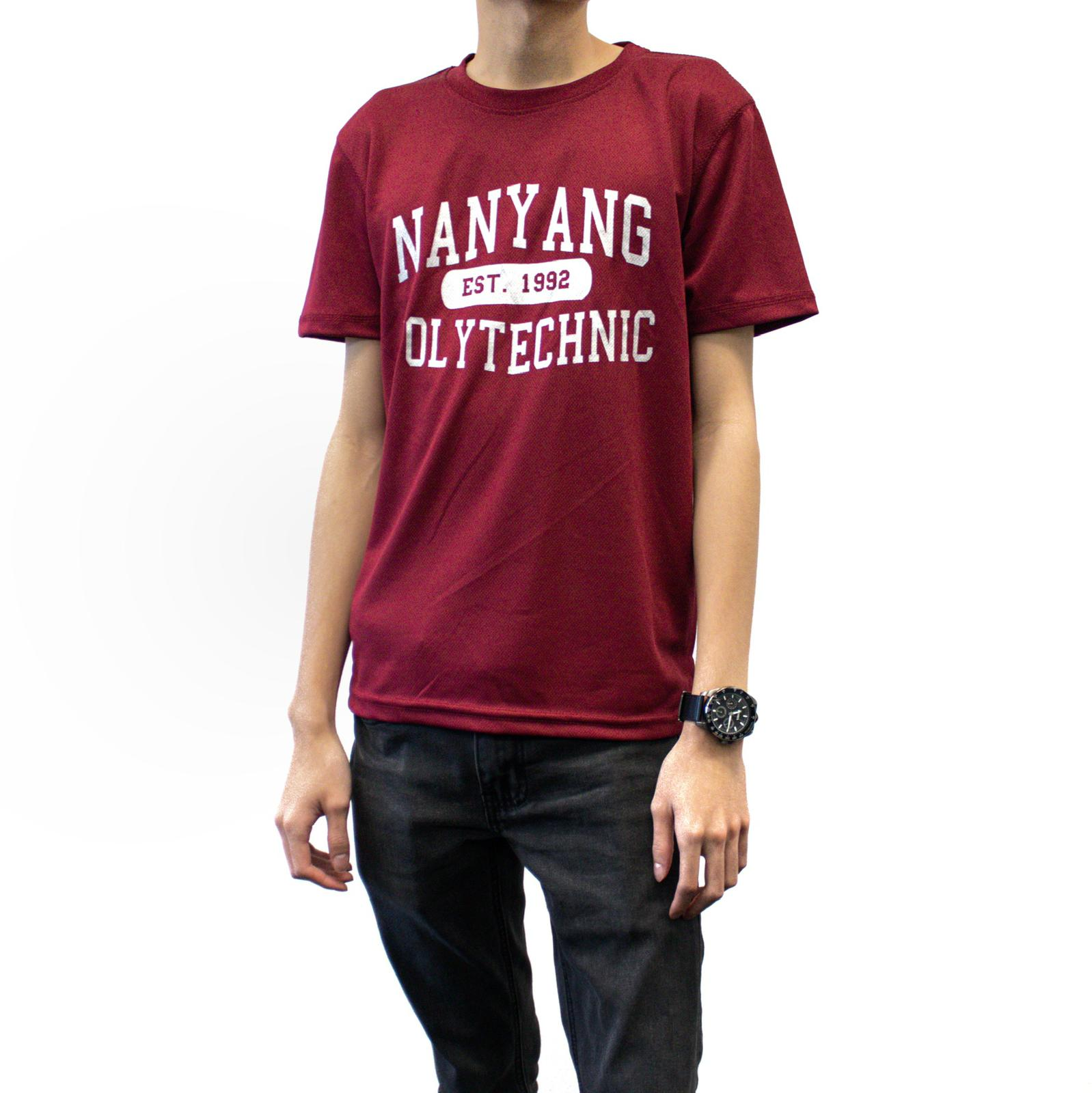 NYP DRI-FIT TEE MAROON WITH SILVER FONTS
