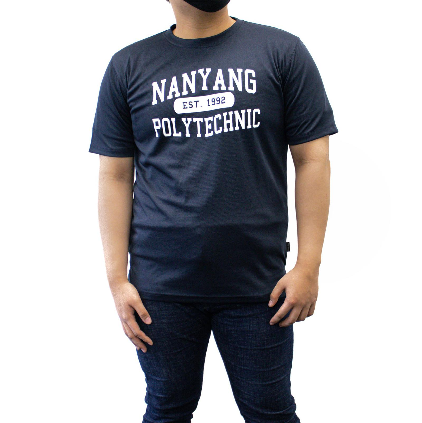 NYP DRI-FIT TEE NAVY WITH WHITE FONTS