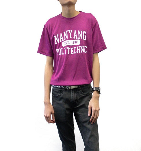 NYP DRI-FIT TEE PURPLE WITH WHITE FONTS