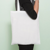 BT-DP (Zip) #02 White Tote Bag - D'Studio