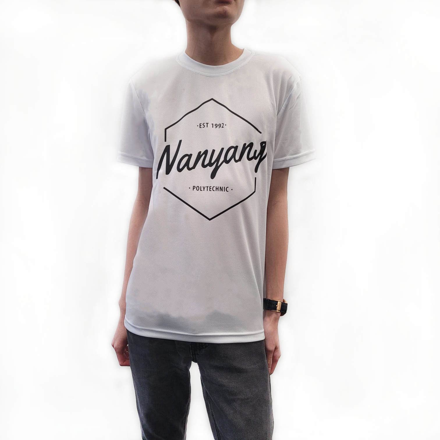 NYP HEX DRI FIT TEE WHITE