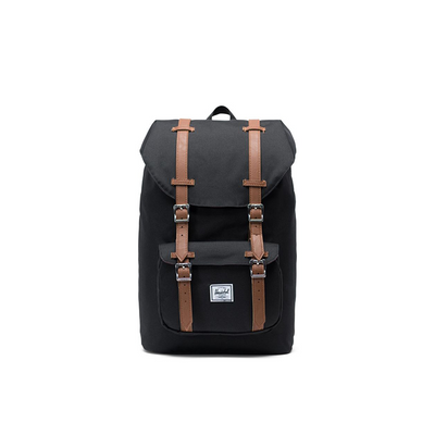 Herschel Little America Backpack Black/Tan Synthetic Leather - D'Studio