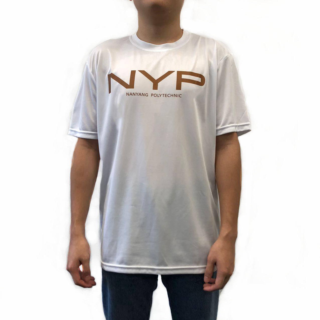 NYP ROUND NECK SMOOTH DRY FIT T-SHIRT WHITE - D'Studio