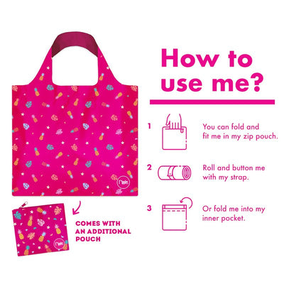 Ripples Recycle Eco Bag Pineapple Pink - D'Studio
