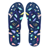 RIPPLES FLIP FLOPS SCRIBBLE & BRUSHSTROKE BLUE - D'Studio