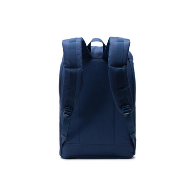Herschel Retreat Backpack Navy/Tan Synthetic Leather - D'Studio