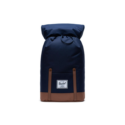 Herschel Retreat Backpack Peacoat/Saddle Brown - D'Studio
