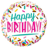 "18"" BIRTHDAY COLORFUL SPRINKLES FOIL BALLOON - D'Studio"