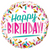 "18"" BIRTHDAY COLORFUL SPRINKLES FOIL BALLOON"