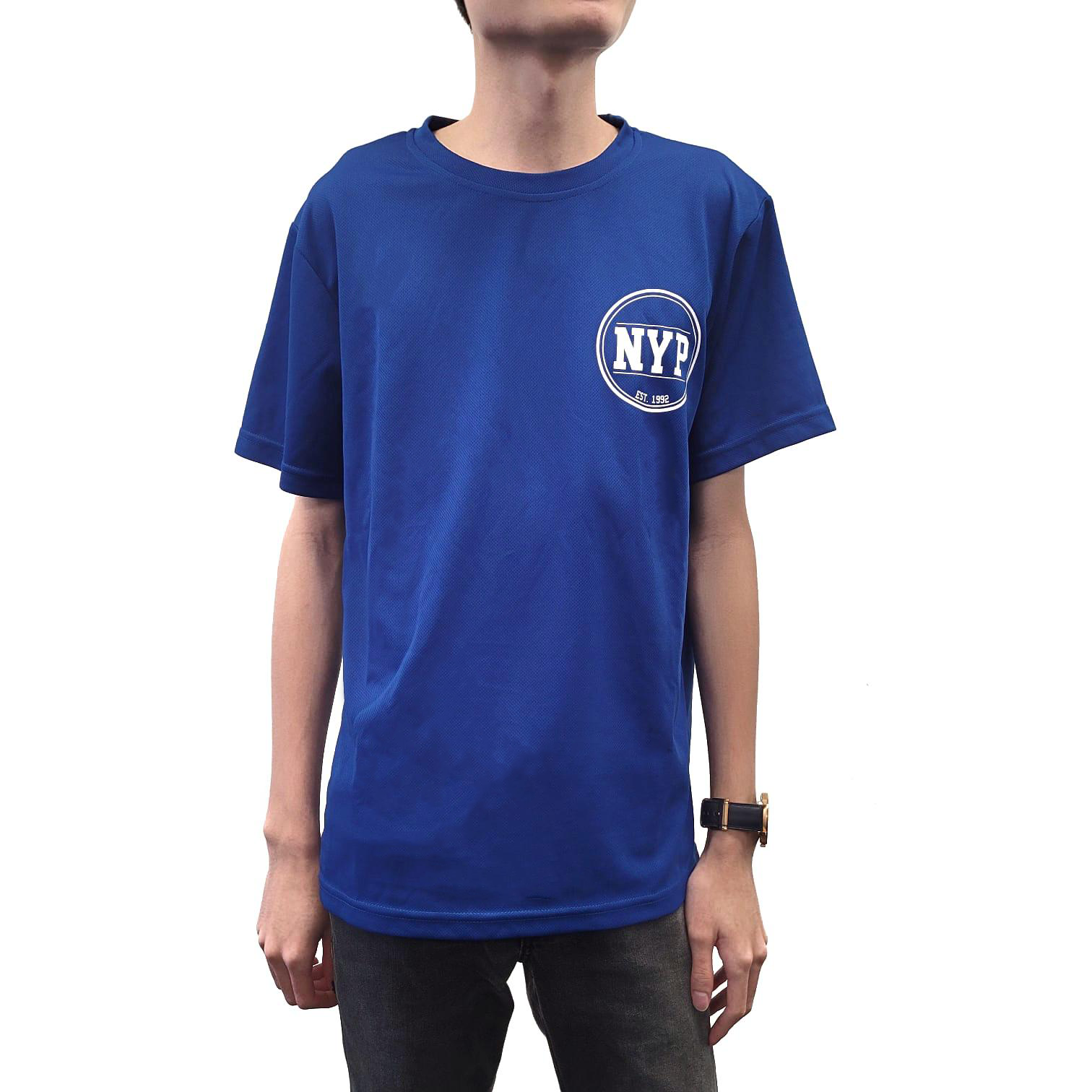 NYP LOGO R/N TEE ROYAL BLUE
