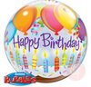 "22"" Happy Birthday Candles on Cake Balloon - D'Studio"